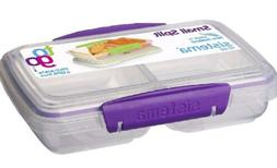 Sistema To Go Split Compartment Lunch Box  350 ml purple