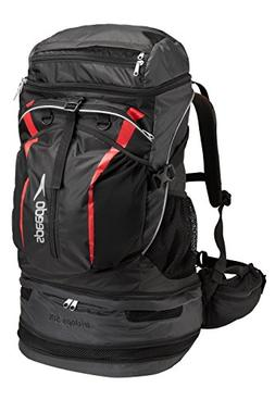 Speedo Tri-Clops Backpack, Black/Grey/Red, 50-Liter