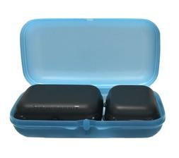 Tupperware Lunch Box Storage Containers Lot Of 3 Blue & Blac