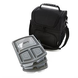 Ultimate Dual Compartment Lunch Bag with Set of 3 JAXX Bento