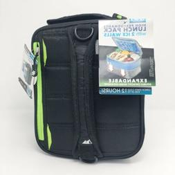 Ultra by Arctic Zone - Expandable Black Lunchbox With Ice Wa