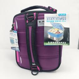 Ultra by Arctic Zone - Expandable Purple Lunchbox With Ice W
