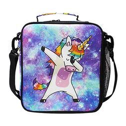 Unicorn Kids Lunch Box Insulated Lunch Bag Large Freezable L