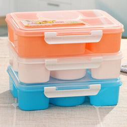 US* Lunch Box 5 Part Divided  Box Children Food Container Wi