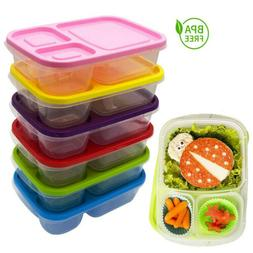 US Plastic Lunch Box Food Container Set Bento Lunch Boxes Wi