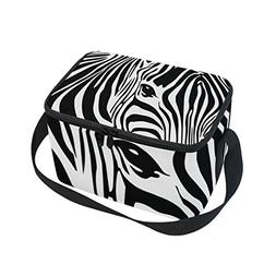 Use4 Animal Zebra Print Insulated Lunch Bag Tote Bag Cooler
