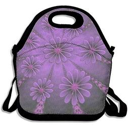 YALING Washable,Non-Toxic Insulated Lunch Bag Leisure Purple