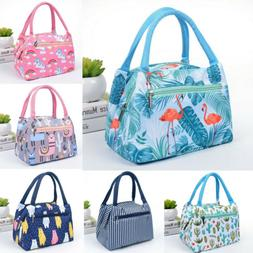 Women Girls Kids Portable Insulated School Lunch Bag Box Pic