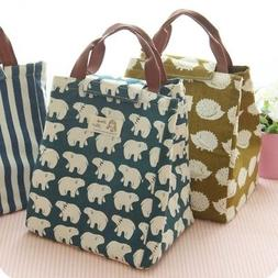 women kids lunch bags insulated canvas bag