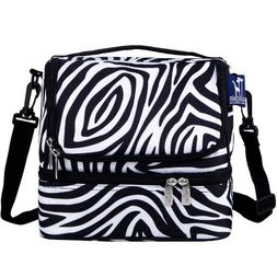 Wildkin Zebra Double Decker Lunch Bag